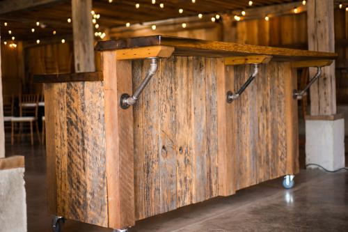 Hand made bar on casters