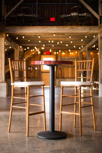 Table - Round Pub and Pub Height Chiavari Chairs