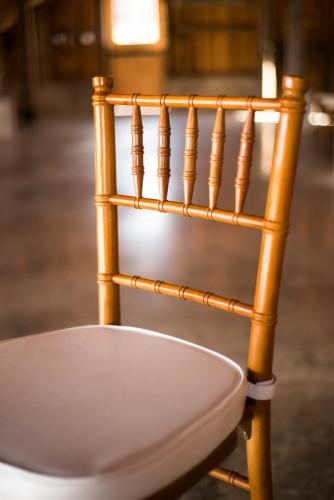 Chair - Chiavari and Ivory Cushion