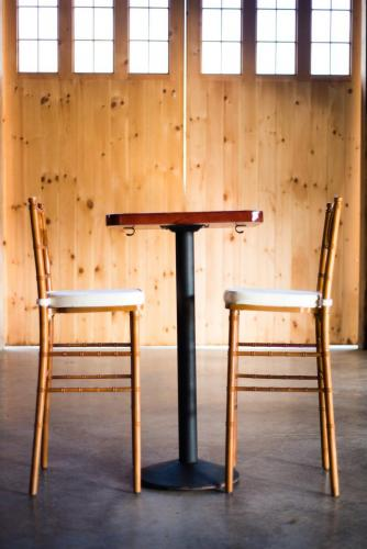 Table - Square Pub and Pub Height Chiavari Chairs