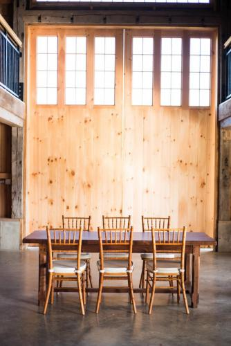 Harvest Table and Standard Height Chiavari Chairs