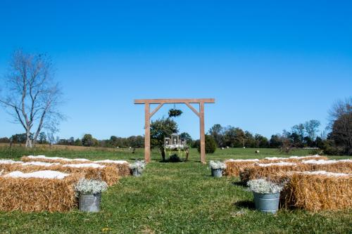 Arbor and Straw Bale Seating